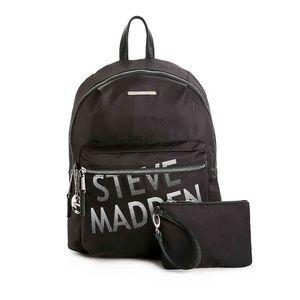 NWT STEVE MADDEN AUTHENTIC WOMEN'S BLACK BACKPACK